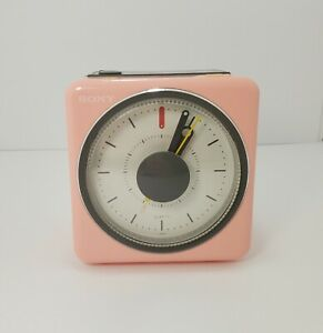 Vintage Sony ICF-A10W PINK Radio Alarm Clock Beetles Melody - Here Comes The Sun