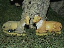 Pellegrini Donkey and Ox Figurines Nativity Scene Animals Pesebre Burro Buey