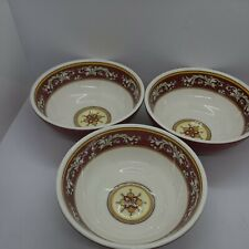 Le Cadeaux Melamine Malaga Red Cereal / Soup / Salad Bowls - New - set of 3
