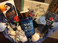 Bath and body works wakiki coconut beach gift basket