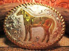 Vintage New Old Store Inventory Standing Quarter Horse Belt Buckle MAKE OFFER