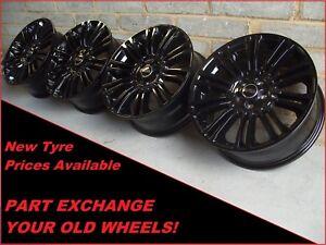 "Genuine 19"" Land Range Rover Evoque Discovery Sport Black 1002 Alloy Wheels"