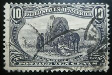 U.S.Stamp:Scott#290, 10c, Violet, The Trans-Mississippi Expo., issue of 1898