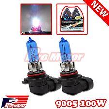 2PCS 9005 Power White 5000k Gas Xenon Halogen 12V 100W Bulbs Lamps High Beam DRL