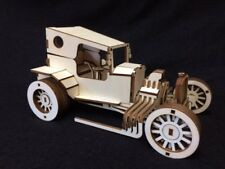 Laser Cut Wooden Hot Rod Car 3D Model/Puzzle Kit