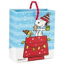 3x Lot Hallmark Peanuts Snoopy Woodstock Christmas Gift Bag 4.5 inches