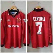 CANTONA 7 Manchester United Long Sleeve Retro Home Shirt 1995/96 Vintage s-xxl