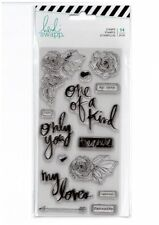 Motivstempel Clearstamps Heidi Swapp magnolia jane only you Sprüche love 313671