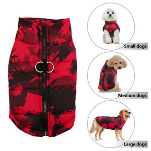 Cold Weather Warm Dog Vest Jacket Coat Pet Winter Clothes for Small Medium Large
