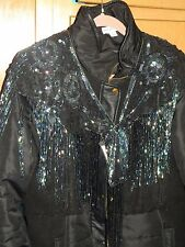 SEQUIN SHAWL WRAP IRIDESCENT BLACK PERFECT WITH DENIM MATCHES EVERY COLOR! GLITZ
