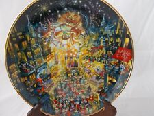 """Franklin Mint Bill Bell Purring In The Mew Year 8"""" Porcelain Collector Plate"""