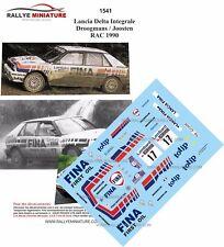 DECALS 1/24 REF 1541 Lancia Delta Integrale Droogmans  Joosten RAC 1990