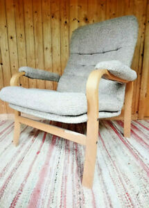 Armchair Club Chair Vintage 60er Easy Lounge Chair Danish Westnofa Rykken Era 2