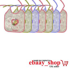 3Pcs Baby Bibs Easy Wipe Clean Soft Plastic UK Seller Same day Dispatch