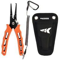 "KastKing 7"" Fishing Pliers - Split Ring/ Straight Nose Braided Line Cutter"