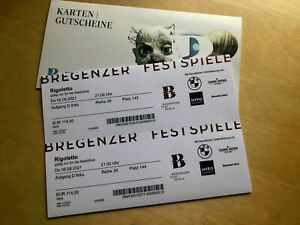 2 Tickets Bregenzer Festspiele Rigoletto, Do. 05.08.2021, 21:00 Uhr