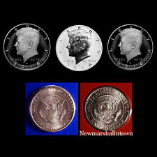 2018 P+D+S+S+S Kennedy Half Dollar Reverse Silver Clad Mint Proof + PD Mint Set