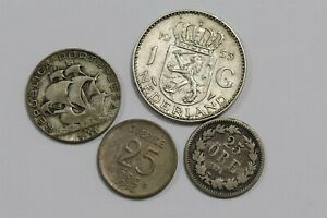 WORLD OLD SILVER COINS LOT B35 S25