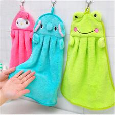 Kids Nursery Hand Towel Cartoon Animal Kitchen Bath Hanging Wipe Soft Towel MR r