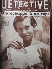 Détective n°467 (13 juin 1955) Andrée Barbier - Marius Clerc - Le semeur de feu