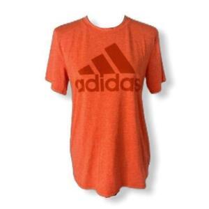 boys size xl adidas climalite Big Logo Orange Short Sleeve T-shirt