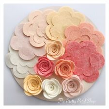 Peekaboos Peach 12 Large Roses Felt Flower Pack ~ Felt Flowers ~ Die Cuts