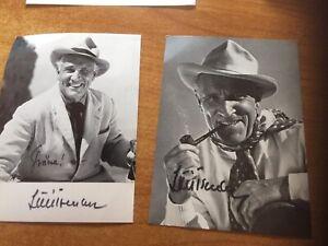 Luis Trenker 2 Autogrammkarte Postkarte  signiert Autogramm, Brief