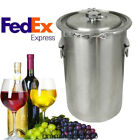 US 5 Gallon Brewing Kettle Stainless Steel Beer Wine Pot Brew Kettle FDA Durable