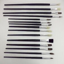 15pc Artists Oil Water Painting Brush Set Hobbies Crafts Model Making Fine Large
