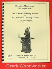 Brown Amp Sharpe No 2 Amp 2b Surface Grinder Parts Manual 0087