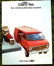 1971 Chevrolet Chevy Van Brochure 71 Red