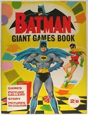 BATMAN GIANT GAMES BOOK~1966~UK~VERY RARE~NATIONAL PERIODICAL~DC COMICS~BATMANIA