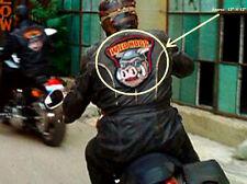 WILD HOGS MOVIE BIKER GANG LEATHER JACKET BACK PATCH: GOGGLES wearing WILD HOG