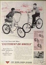 "1965 AMF""Renegade III"" 24+20""Cobra""Bicycle Vintage Boys Bike Memorabilia Art AD"