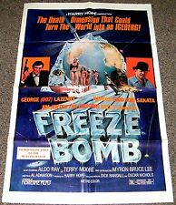FREEZE BOMB/DEATH DIMENSION 1970's ORIG. 27x41 MOVIE POSTER! SCI-FI EXPLOITATION