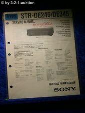 Sony Service Manual STR DE245 /DE345 FM/AM Receiver (#5195)