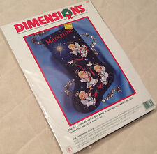 NEW DIMENSIONS MUSIC FROM HEAVEN ANGEL STOCKING COUNTED CROSS STITCH KIT #8525
