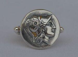 Goddess Athena Silver Ring Size Us 8 1/2 - Symbol of Wisdom Strength-Strategy