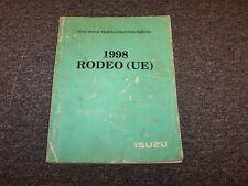 1998 Isuzu Rodeo SUV Electrical Wiring Diagrams Manual Book S LS 2.2L 3.2L V6