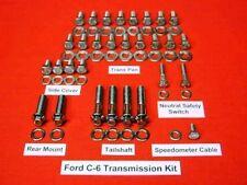 FORD C-6 POLISHED STAINLESS STEEL TRANSMISSION BOLT KIT