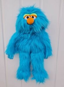 """Puppet blue monster 13"""" Ventriloquist,Tell storys.Moving mouth&hands"""
