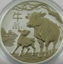2021 Perth Mint Lunar Year of the Ox 1oz  .999 Silver Coin