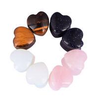 "PAIR Heart Organic Stone Ear Gauges Ear Tunnels Plugs 2G 0G 00G 1/2"" 9/16"" 5/8"""