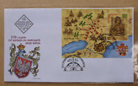 2014 BULGARIA BATTLE OF VARNA MINI SHEET FIRST DAY COVER FDC
