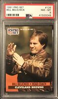1991 Pro Set Football #126 Bill Belichick RC Patriots Rookie PSA 8 NM-MT+