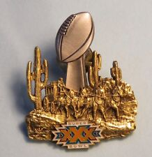 Super Bowl XXX Press Pin 1996 Cowboys Steelers Tempe AZ Rare Low Number 0010