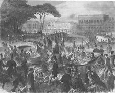 ITALY. Corso of Padua During Visit of Italian King, antique print, 1866