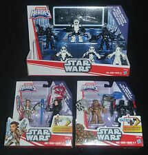 STAR WARS Galactic Heroes Imperial Forces Pack & Two 2-Packs w REY & CHEWBACCA