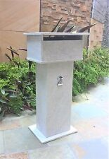 Stone Letterbox Solid build real white quartzite mailbox 820mm tall.