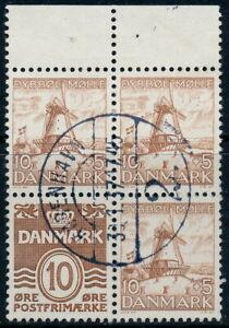 Denmark Scott 229b/AFA 237, 10ø brown Dybbøl Mill, VF Used Booklet BLOCK
